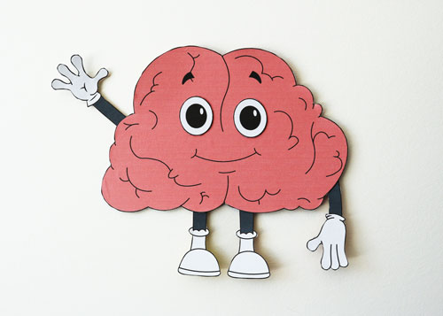 cartoon brain paper craft