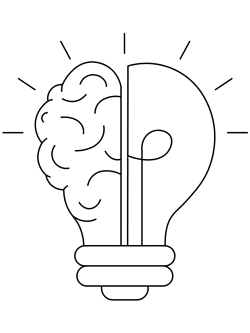lightbulb brain coloring page
