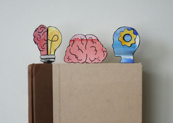 brain-themed paper clip bookmarks craft