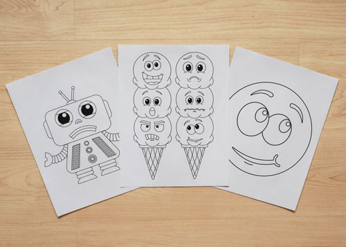 emotion-themed coloring pages
