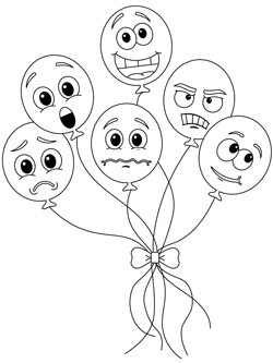 Feelings Emotions Coloring Pages Sketch Coloring Page | Feelings ... | 333x250