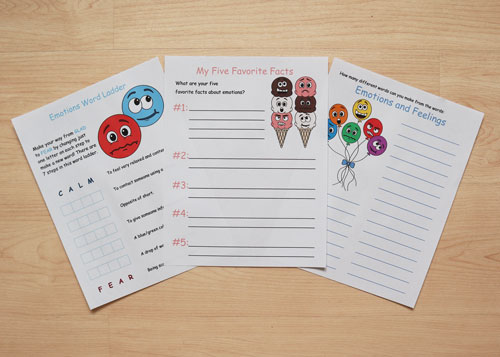 emotion-themed worksheets